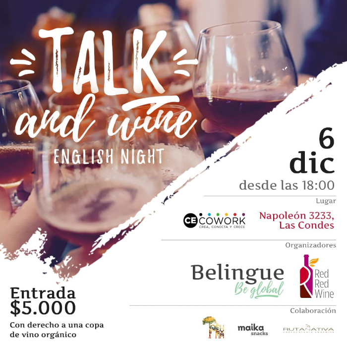 Talk and wine: un vino para hablar inglés 1