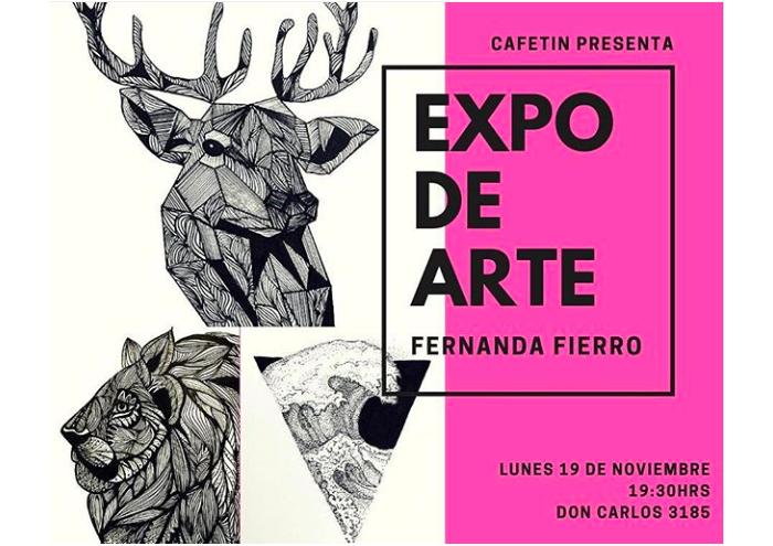 Expo de ilustraciones de Fernanda Fierro en Cafetín 1