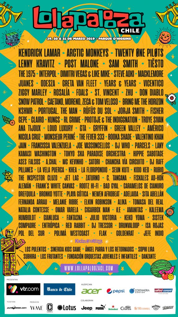 Fin del misterio: Lollapalooza 2019 revela su line up 1