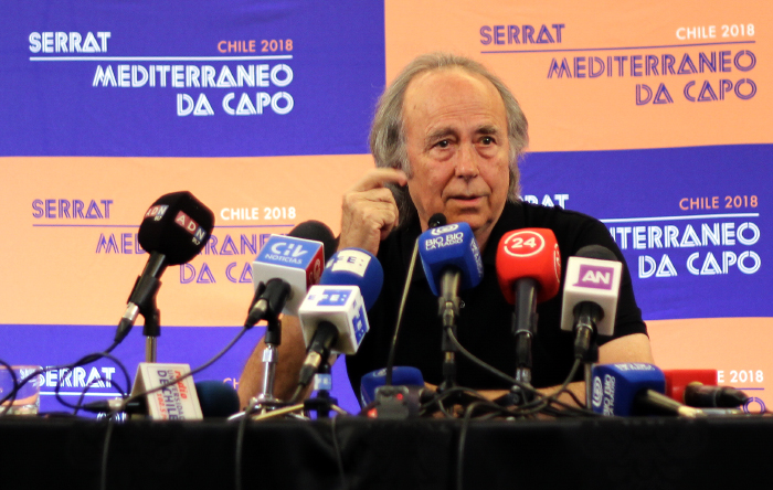 Joan Manuel Serrat en Chile y su inigualable sentido del humor y de la poesía 1