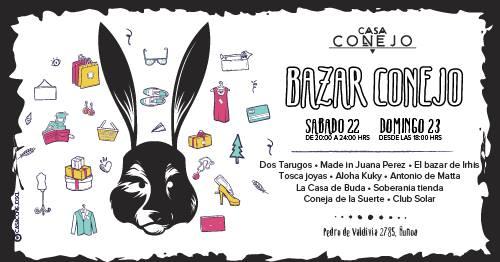 Bazar , tocatas y mucho más esta semana en Casa Conejo 4