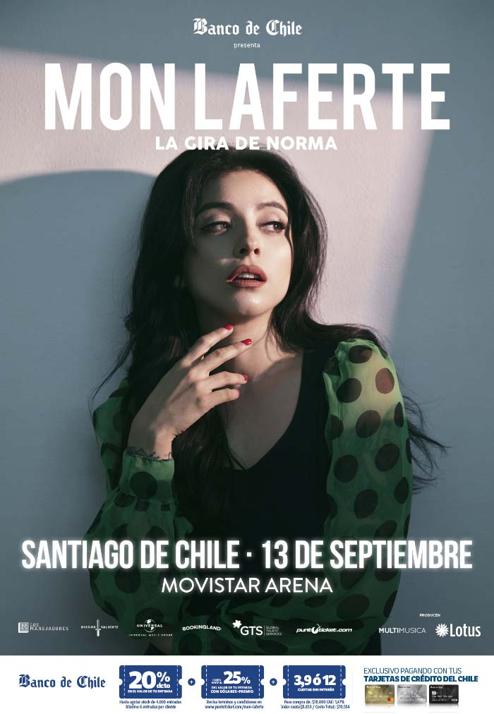 "Mon Laferte viene de gira con el disco ""Norma"" 1"