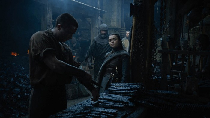 Game of Thrones Arya y Gendry
