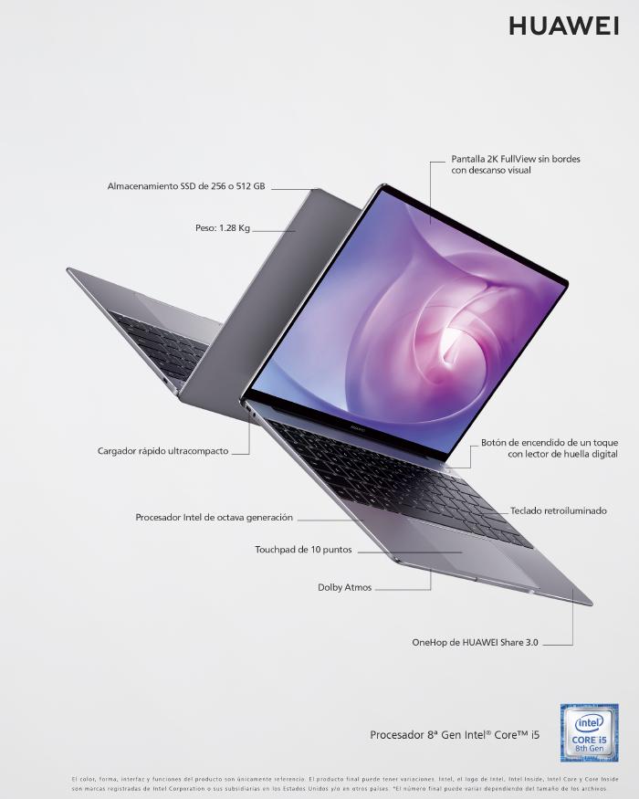 Nuevo Huawei MateBook 13, optimización de diseño y tecnología en un notebook 2