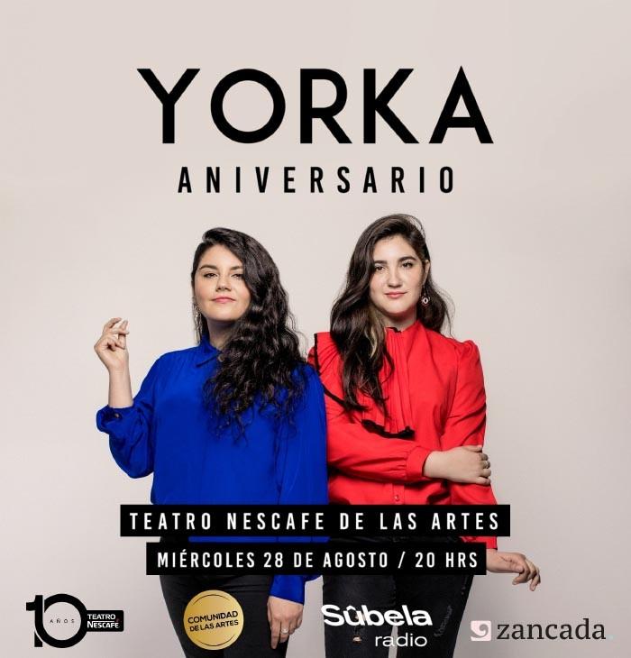 Entrevista a Yorka antes de su esperado concierto en el Teatro Nescafé de las Artes en su 6º aniversario 2