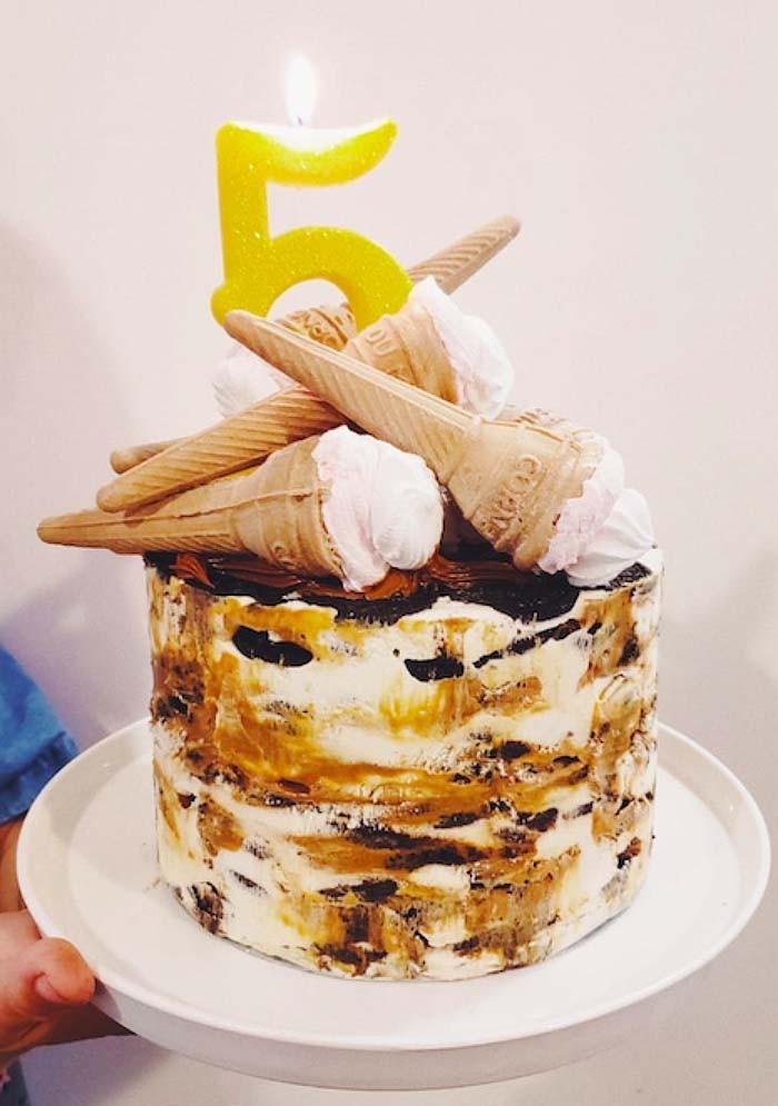 Receta: Torta Cici, una delicia hecha de galletas, crema y manjar 1