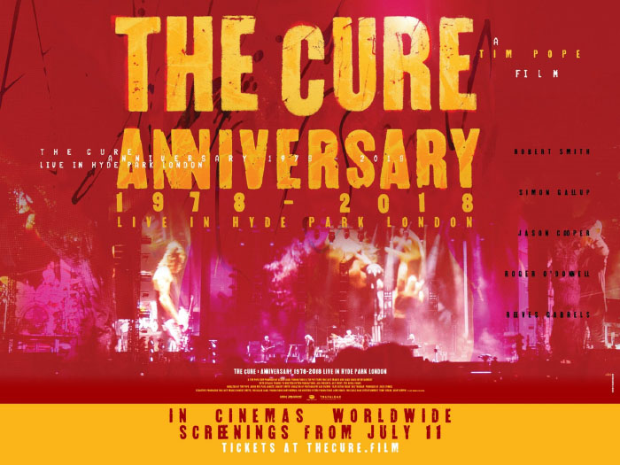 Función única de The Cure: Anniversary Live in Hyde Park en Cinemark 1