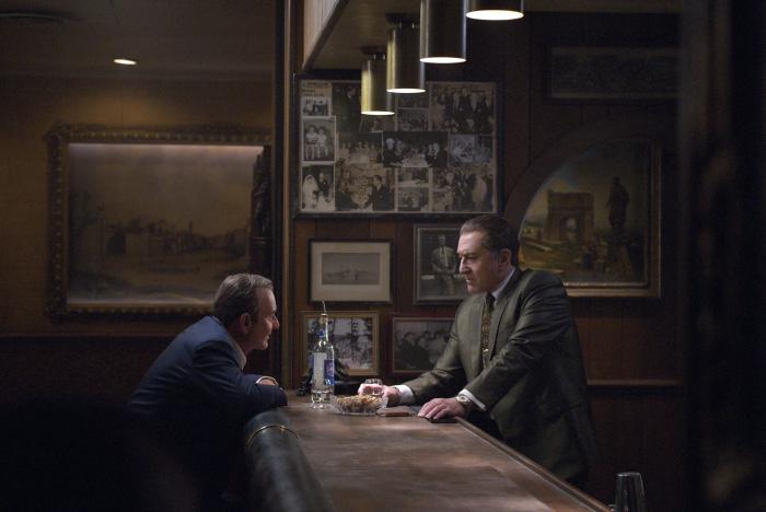 Robert De Niro, Al Pacino y Joe Pesci en El irlandés