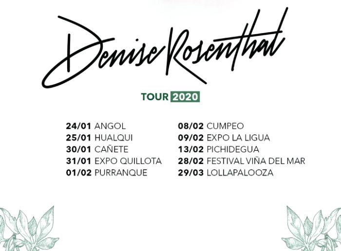 Denise Rosenthal parte el año con una extensa gira de verano 2