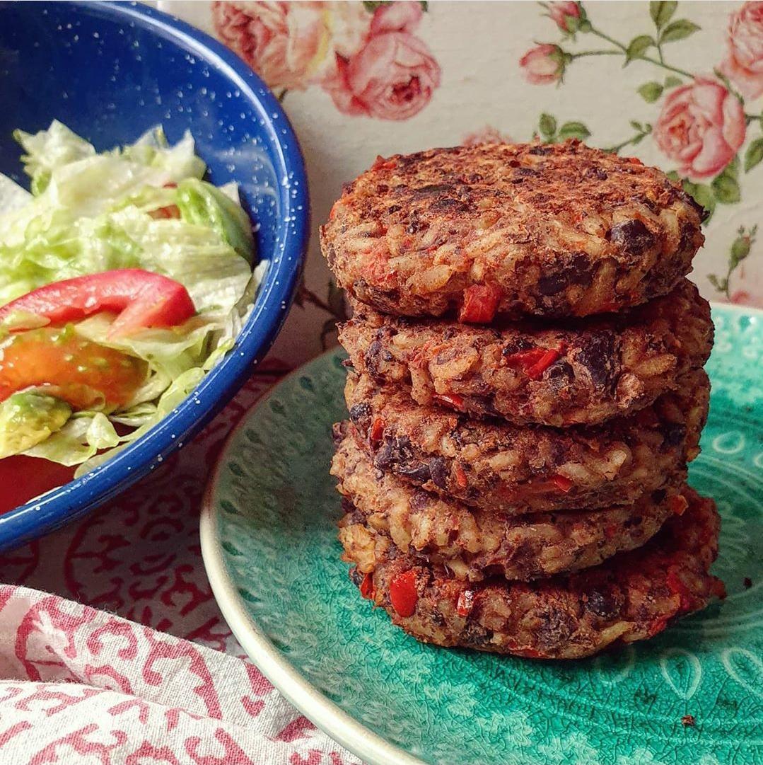 2 Recetas: hamburguesas de lentejas y de porotos negros 1