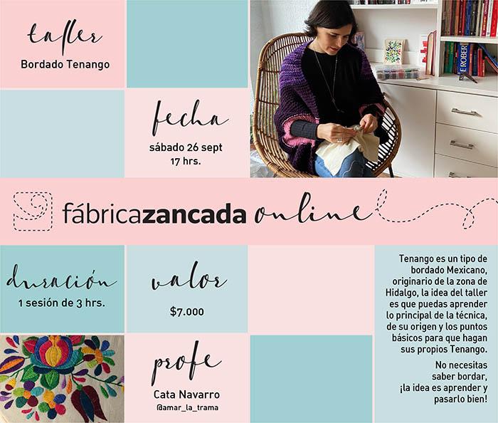 Nuevos talleres de Fábrica Zancada Online en primavera 2