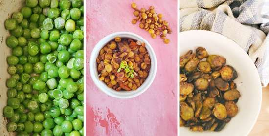 legumbres crocantes