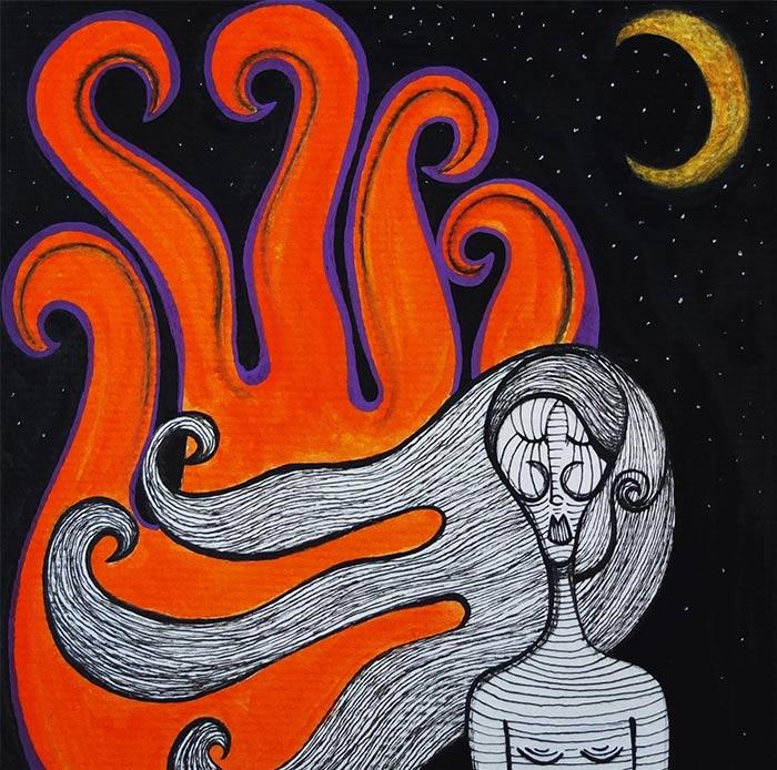 Ilustración inspirada en Las cosas que perdimos en el fuego