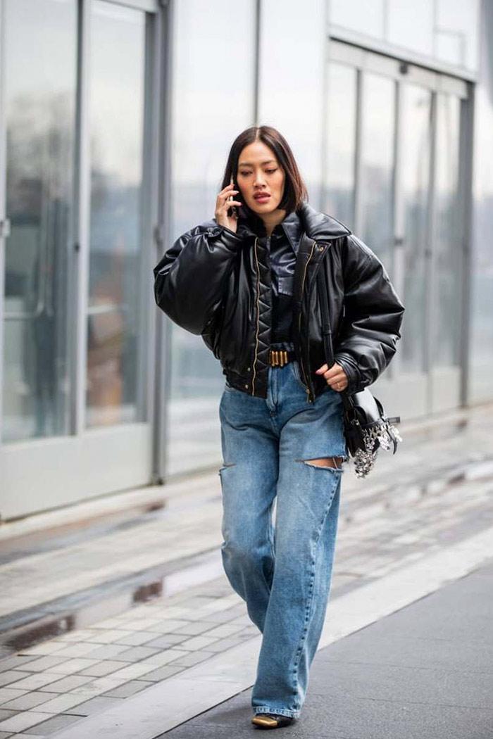 ¿cómo usar jeans holgados?