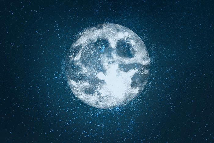 Energía femenina de la Luna