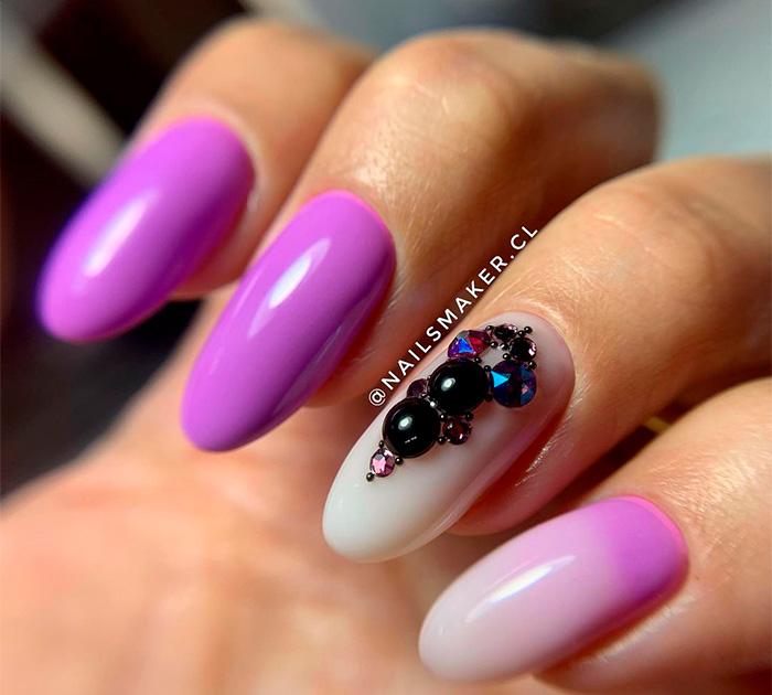 Manicure con cristales