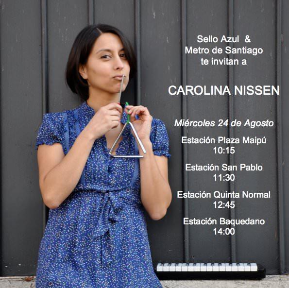 Carolina Nissen en el metro de Santiago 3