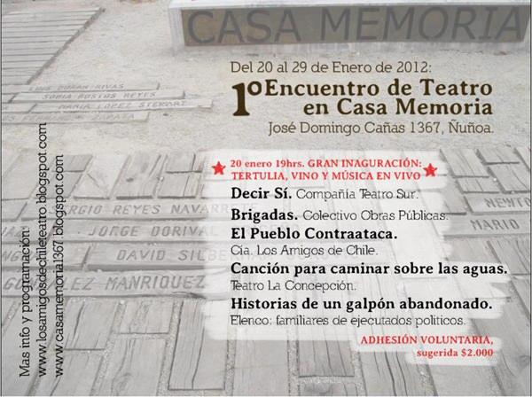 1er Encuentro de Teatro en Casa Memoria 3
