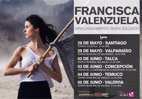 Resultados concurso: La gira de Fran Valenzuela (gana entradas!) 1