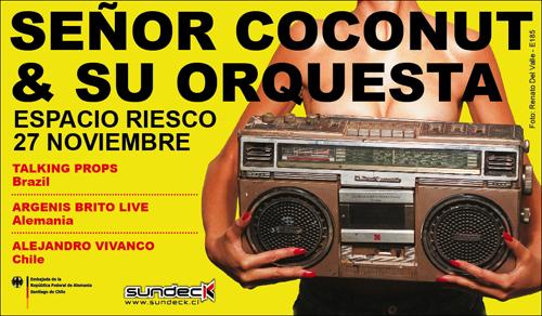 Señor Coconut & su Orquesta en fiesta Sundeck 3