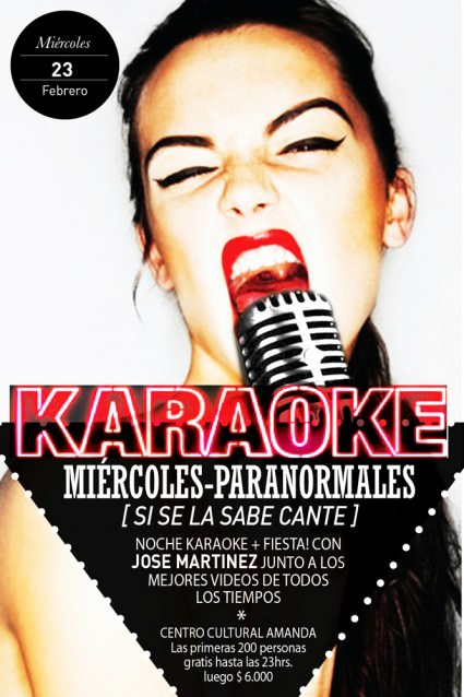 MIE/23/02 Miércoles de Karaoke en Amanda 3