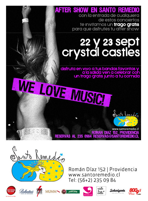 22-23/09 We Love Music, Santo Remedio 1
