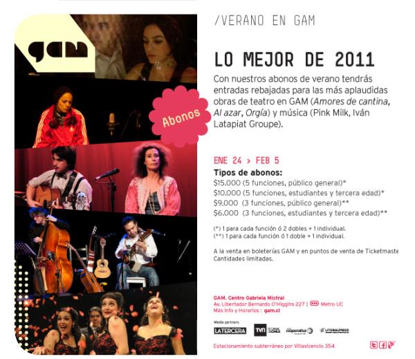 Abonos de verano: lo mejor del GAM 2011 3