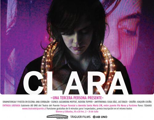 VIE y SAB de Julio Teatro: Clara 3