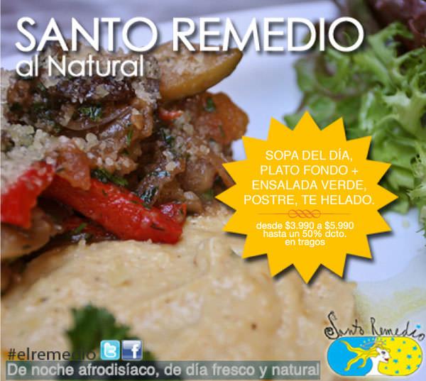 Almuerzos naturales en Santo Remedio 1