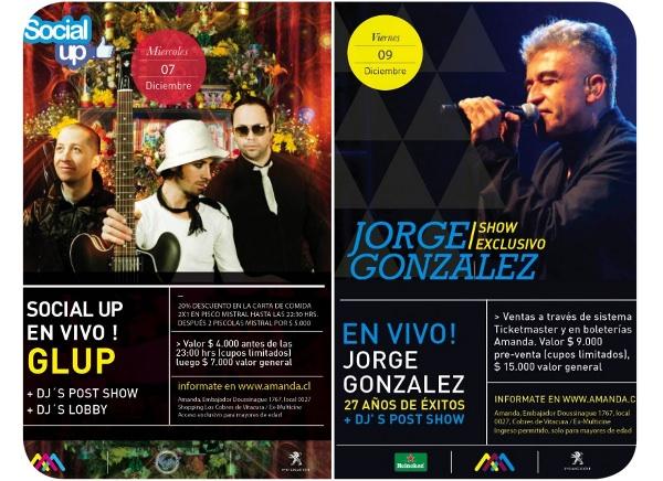 Jorge González y Glup! en el Amanda (+ concursos) 1