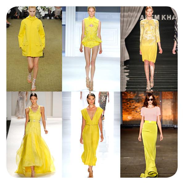 Tendencias del NYFW Spring 2012: amarillo 1