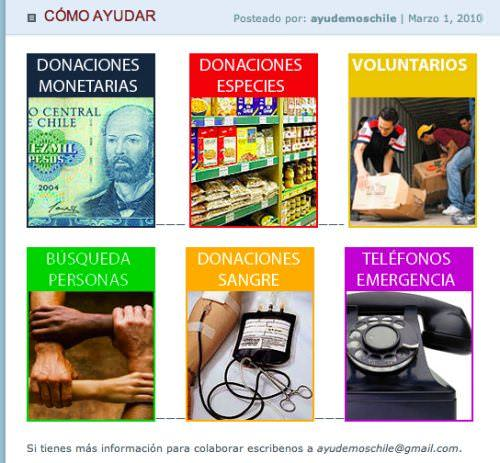 Ayudemos Chile: blog con datos 3