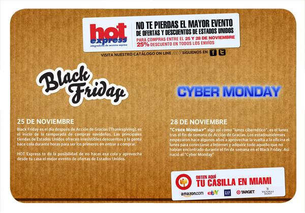 Aprovecha el Black Friday y el Cyber Monday con Hot Express! (Oferta y concurso) 1