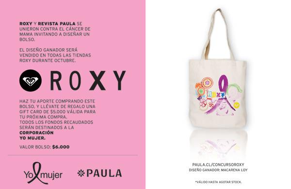 Roxy y revista Paula contra el cáncer de mamas 1