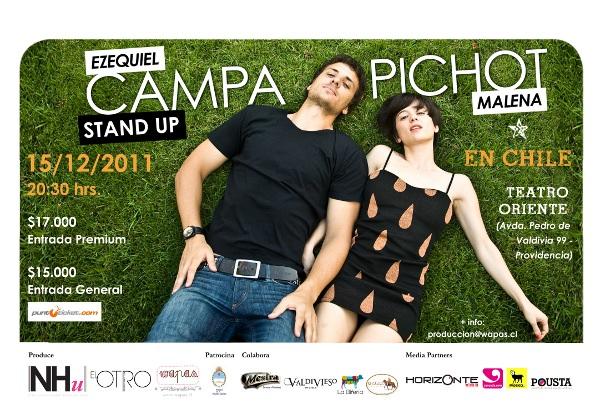 Campa/Pichot en Chile el 15 de diciembre: vuelve la Loca de Mierda! 1