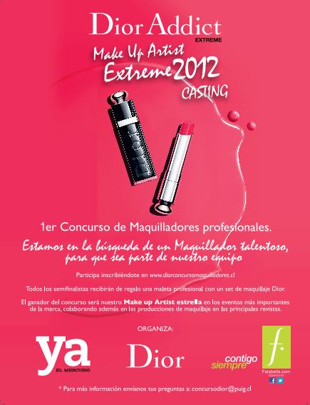 Dior Addict Make Up Artist Extreme 2012 . Casting. 3