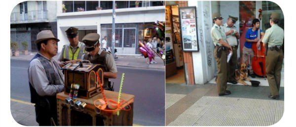 Carabineros que sacan multas a artistas callejeros 1