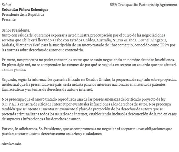Ley SOPA en Chile: campaña para detener la negociación secreta 3