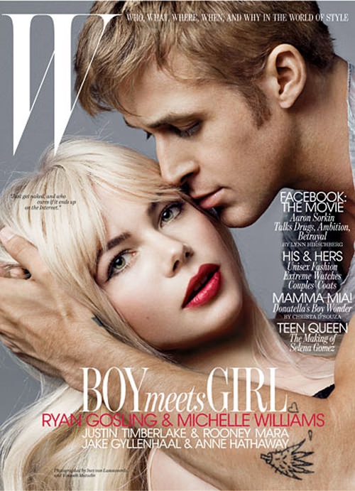 Michelle Williams y Ryan Gosling en W magazine 1