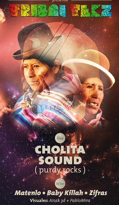 VIE/16/07 Tribal Tekz: Cholita Sound (Purdy Rocks) en vivo 3