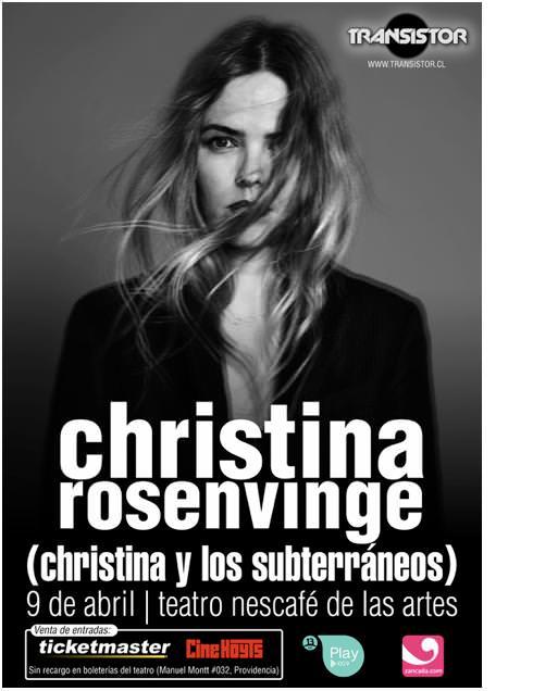 Gana un meet & greet con Christina Rosenvinge 1