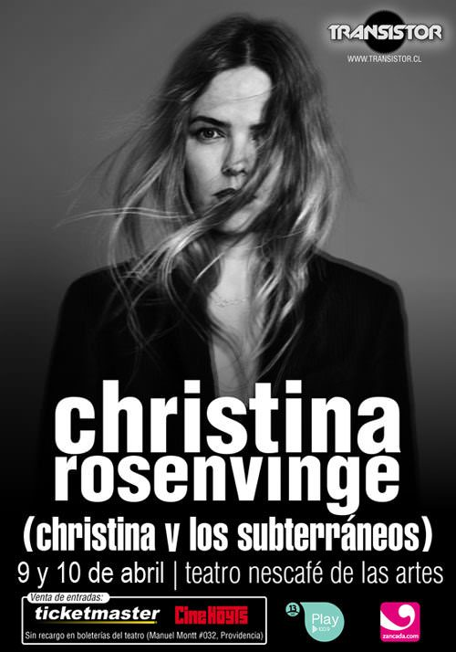Zancada sortea un meet and greet con Christina Rosenvinge 1