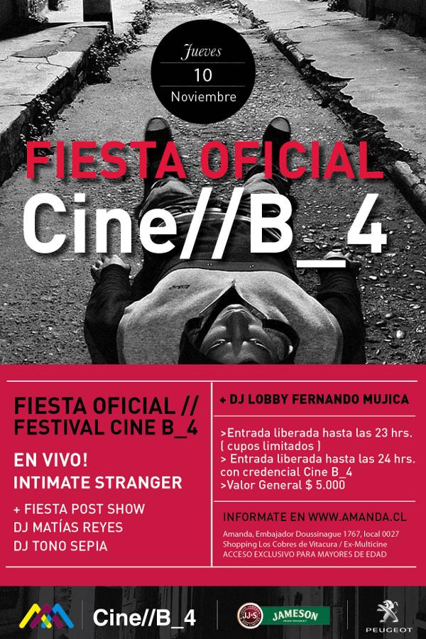 Fiesta oficial Cine// B_4 en Centro Cultural Amanda 3