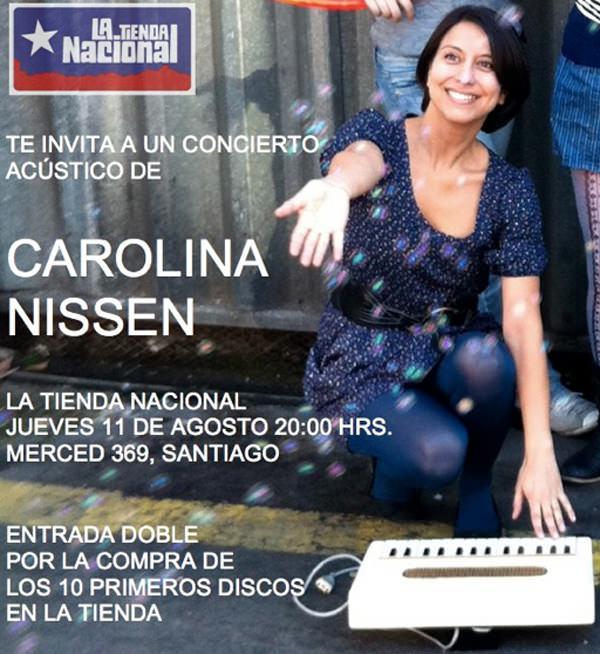 Carolina Nissen en La Tienda Nacional 1