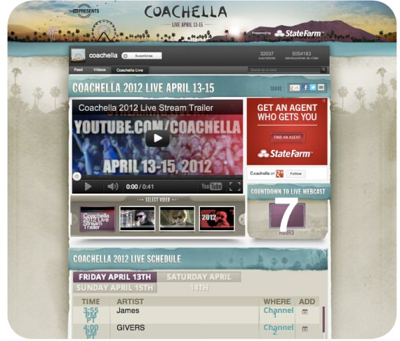 Coachella 2012 en vivo por YouTube 1