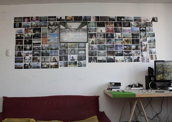 Decoración: collage de fotos en la pared 3