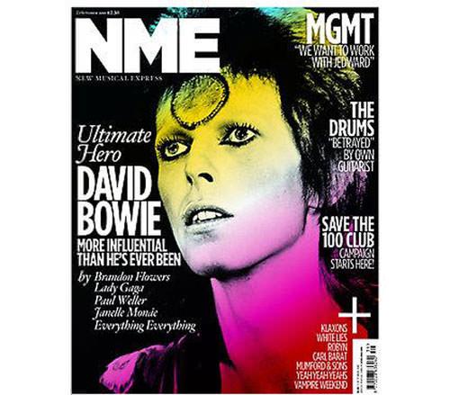 David Bowie en la portada de NME 3