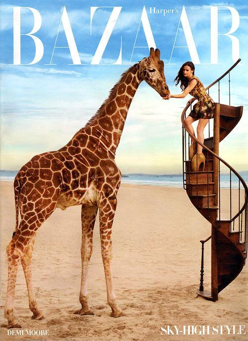 Demi Moore en Bazaar abril 1