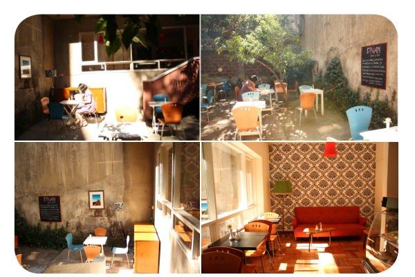 <em>Diván, patio y café</em> en Lastarria 6
