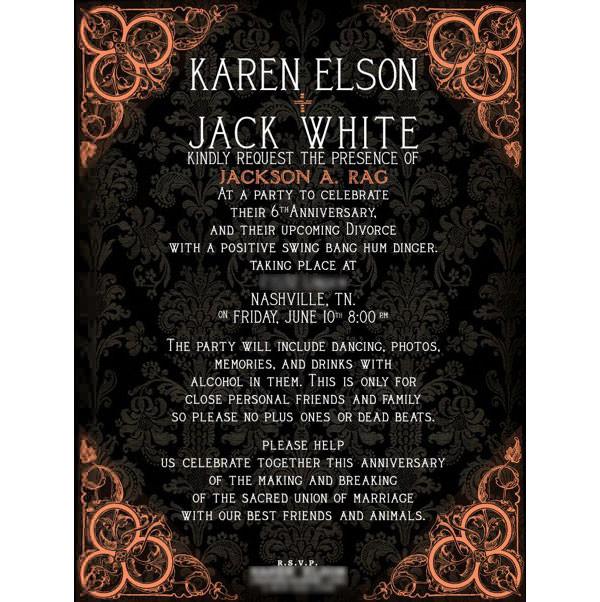 Jack White y su fiesta de divorcio 1